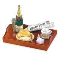 Dollhouse Champagne Breakfast Tray - Product Image