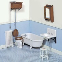 Dollhouse Complete Victorian Bathroom (Kit) - Product Image
