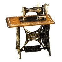 Dollhouse Metal Sewing Machine - Product Image