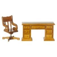 Dollhouse Walnut Desk Set - Product Image