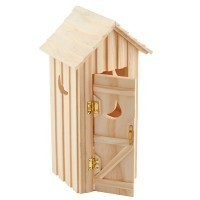 Dollhouse Outhouse Single Seater - Product Image