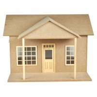Dollhouse Retro Garage (Kit) - Product Image