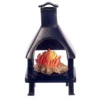 Dollhouse San Antonio Outdoor Fireplace - Product Image