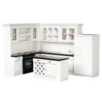 Dollhouse White Modern Kitchen - Product Image
