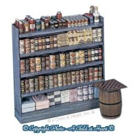 Dollhouse Single Sided Store Shelf (Kit) - Product Image