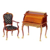 Dollhouse Belfort Rolltop Desk & Chair - Product Image