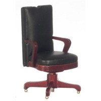Dollhouse Black Hiback Desk Chair - Product Image
