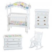 Dollhouse White Patchwork Nursery - Product Image