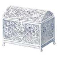 Dollhouse White Blanket Chest / Trunk - Product Image