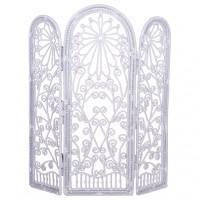 White Dollhouse Dressing Screen - Product Image