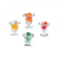 (*) Dollhouse Miniature Glass of Jello - Product Image