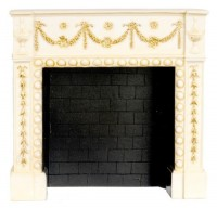 - New - Small Dollhouse Resin Fireplace - Product Image