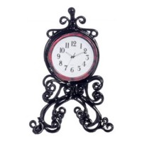 Dollhouse Black Mantle Clock - Product Image