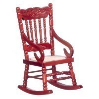 Dollhouse Mesh Seat Rocker(Choice of Finishes) - Product Image