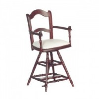 Dollhouse Victorian Child's Barber Chair - Product Image