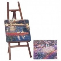 (*) Dollhouse Easel with Paintings - Product Image