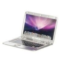 (*)Dollhouse Apple MacBook - Silver - Product Image