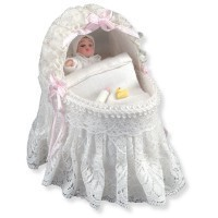 Dollhouse Lace Baby Bassinet - Product Image