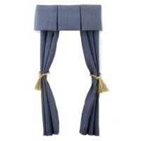 Dollhouse Single Drapes w/Box Pleat Cornice - Product Image