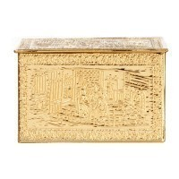Dollhouse Brass Log Box - Product Image