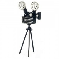 Dollhouse Old-Fashioned Movie Camera - Product Image