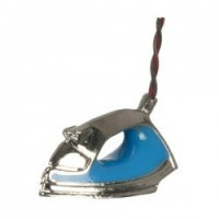 (*) Dollhouse Modern Steam Iron - Blue - Product Image