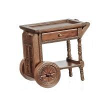 Dollhouse Walnut Teacart - Product Image