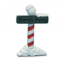 Dollhouse Outdoor North Pole Sign - Product Image