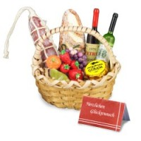 Dollhouse Wine & Cheese Gift Basket - Product Image