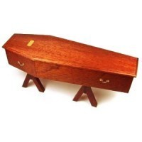 Dollhouse Coffin on stand - Product Image