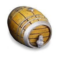 Dollhouse Wine Barrel w/Tap - Small - Product Image