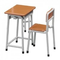 (*) 4 pc. Dollhouse Student Desk & Chairs - Product Image