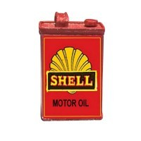 (*) Dollhouse Tin Gasoline Can - Product Image