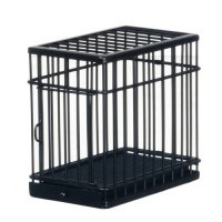 Small Black Dollhouse Pet Cage - Product Image