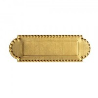 Dollhouse Brass Half Moon Mail Slot - Product Image