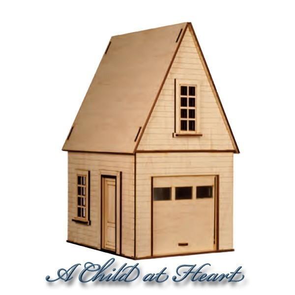 Dollhouse garage with loft kit for 2 car garage with loft kit