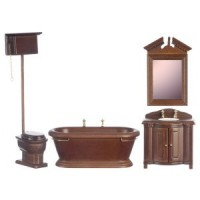 (*) Dollhouse Old Fashioned Bathroom - Product Image