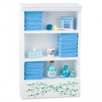 Dollhouse Bath Cabinet with Accessories - Product Image