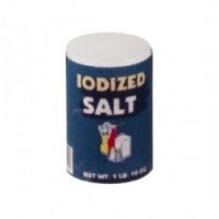 Dollhouse Miniature Can of Iodized Salt - Product Image