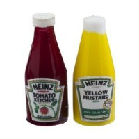 (*) Dollhouse Heinz Ketchup & Mustard Set - Product Image