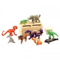 (*) Dollhouse Toy Animal Set w/Crate - Product Image