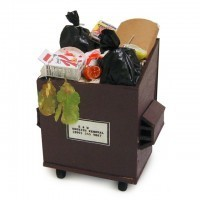 Filled Dollhouse Trash Dumpster - Product Image