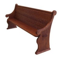 (§§) Dollhouse Church Pew (Long) - Product Image
