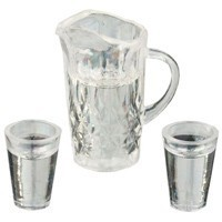 Water Pitcher with 2 Glasses - Product Image