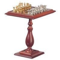 Dollhouse Metal Chess Table, Magnet - Product Image