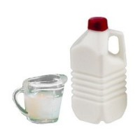 Dollhouse Milk & Filled Measuring Cup - Product Image