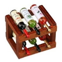 Dollhouse Filled Wine Rack - Product Image
