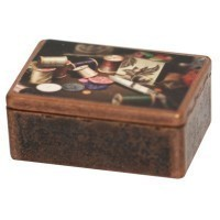 (*) Dollhouse Sewing Box w/ Accessories - Product Image