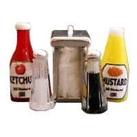 Dollhouse Diner Condiment Set #2 - Product Image