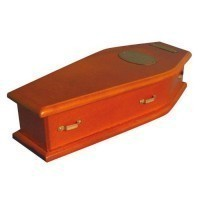 Dollhouse Lined Coffin - Product Image
